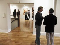 Gallery with patrons
